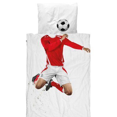 Snurk Sengetøj - Junior - Rød Fodboldspiller - Børnetøj - SNURK