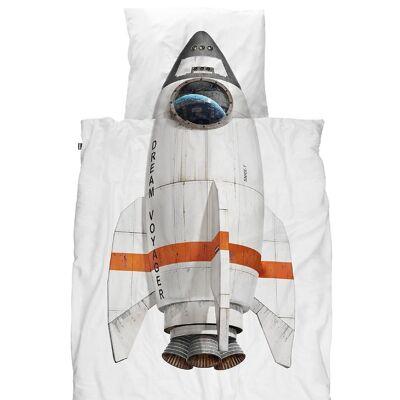 Snurk Sengetøj - Voksen - Hvid m. Raket - Børnetøj - SNURK