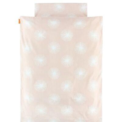 Leander Sengetøj - Junior - Rosa m. Print - Børnetøj - Leander