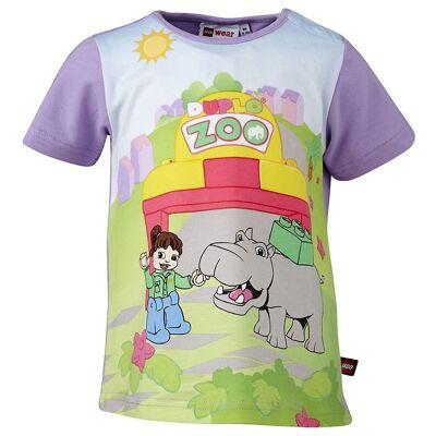 Lego Duplo T-shirt - Lavendel m. Zoo - Børnetøj - Lego