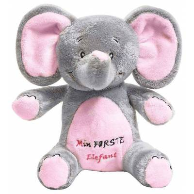 My Teddy Bamse - Min Første Elefant - 22 cm - Pink - Børnetøj - My Teddy