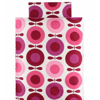 Katvig Classics Sengetøj - Voksen 140x220 - Hvid m. Pink Æbler - Børnetøj - Katvig