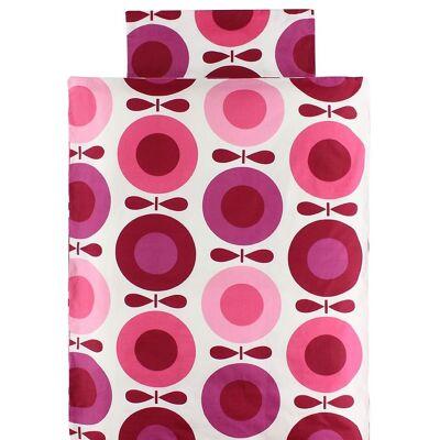 Katvig Classics Sengetøj - Junior - Hvid m. Pink Æbler - Børnetøj - Katvig