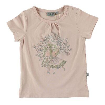 Wheat T-Shirt - Powder m. Piger - Børnetøj - Wheat