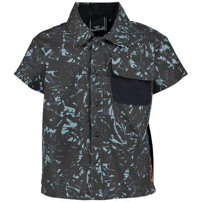 Hummel Skjorte - UV50+ - Saxo - Koksgrå/Lyseblå - Børnetøj - Hummel