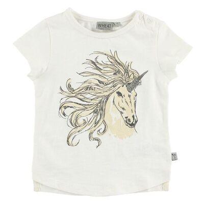 Wheat T-shirt - Ivory m. Enhjørning - Børnetøj - Wheat