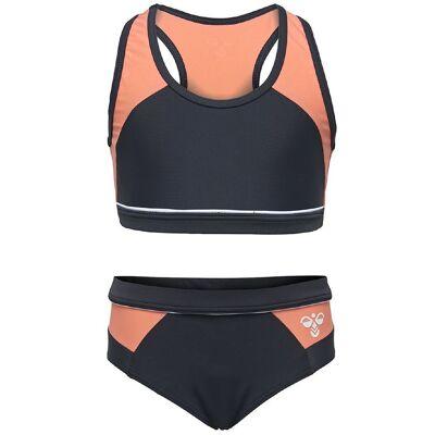 Hummel Bikini - UV50+ - Jujube - Koksgrå m. Rosa - Børnetøj - Hummel