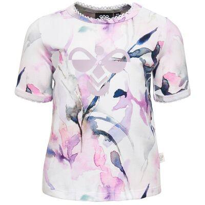 Hummel T-shirt - Naja - Akvarel m. Logo - Børnetøj - Hummel