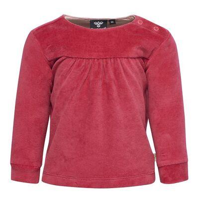 Hummel Bluse - Velour - Pink - Børnetøj - Hummel
