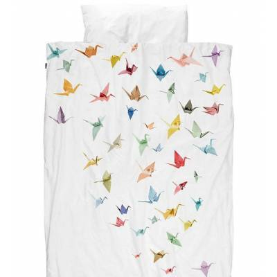 Snurk Sengetøj - Voksen - Origami Fugle - Børnetøj - SNURK
