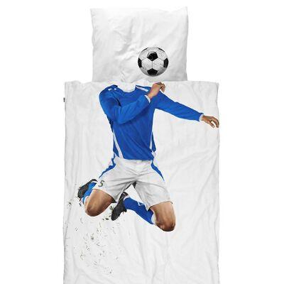 Snurk Sengetøj - Junior - Blå Fodboldspiller - Børnetøj - SNURK