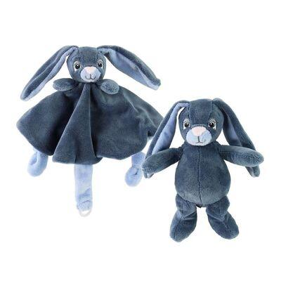 My Teddy Bamse & Nusseklud - Blå - Kanin - Børnetøj - My Teddy