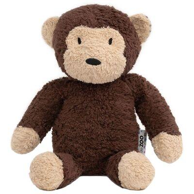 NatureZoo Bamse - 30 cm - Teddyfleece - Abe - Brun - Børnetøj - NatureZoo