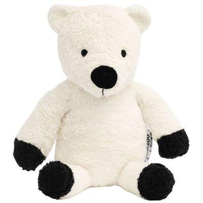 NatureZoo Plush Bamse - 30 cm - Teddyfleece - Isbjørn - Hvid - Børnetøj - NatureZoo