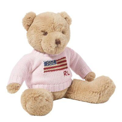Ralph Lauren Polo Ralph Lauren Bamse m. Sweater - 20 cm - Lyserød - Børnetøj - Ralph Lauren