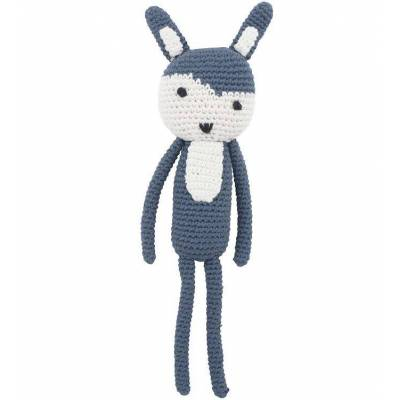Sebra Bamse - Kaninen Siggy - 28 cm - Royal Blue - Børnetøj - Sebra