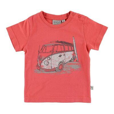 Wheat T-shirt - Surf Car - Spiced Coral - Børnetøj - Wheat