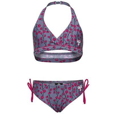Hummel Bikini - Lasera - UV50+ - Støvet Lilla m. Blomster - Børnetøj - Hummel