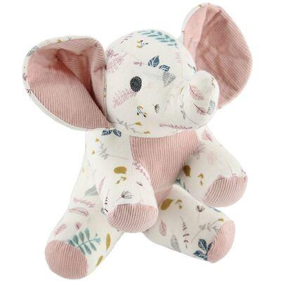 Cam Cam Bamse - Elefant - 22 cm - Pressed Leaves Rose - Børnetøj - Cam Cam