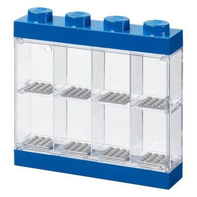 Lego Storage Minifigur Display - 8 Rum - 19 cm - Blå - Børnetøj - Lego