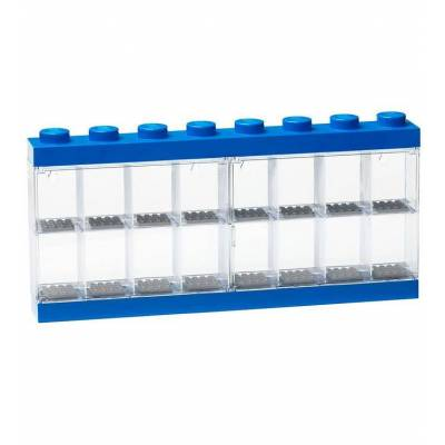 Lego Storage Minifigur Display - 16 rum - 38 cm - Blå - Børnetøj - Lego