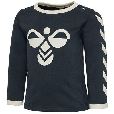 Hummel Bluse - Flipper - Navy m. Logo - Børnetøj - Hummel