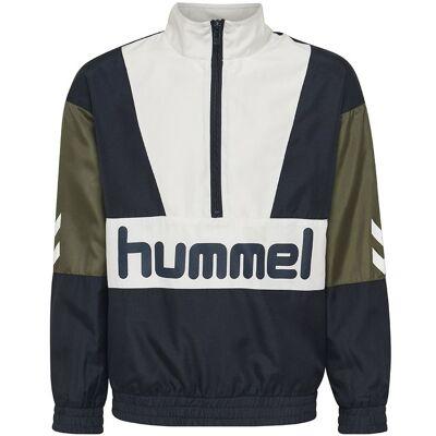 Hummel Teens Cardigan - Snoop - Navy/Hvid m. Logo - Børnetøj - Hummel Teens