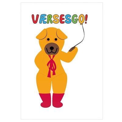 Citatplakat Plakat - 50x70 - Bamse - Værsesgo - Børnetøj - Citatplakat
