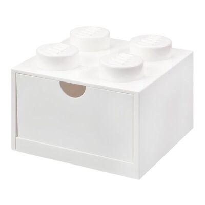 Lego Storage Opbevaringsskuffe - 4 Knopper - 15x15x9 - Hvid - Børnetøj - Lego
