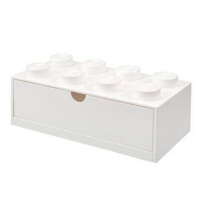 Lego Storage Opbevaringsskuffe - 8 Knopper - 31,5x15,5 cm - Hvid - Børnetøj - Lego