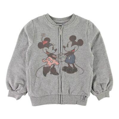 Disney Wheat Disney Cardigan - Mickey & Minnie - Melange Grey - Børnetøj - Disney