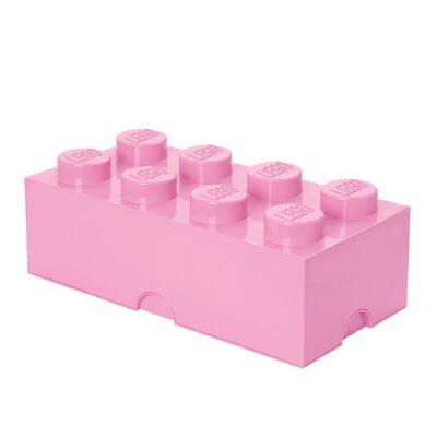 Lego Storage Opbevaringsboks - 8 Knopper - 50x25x18 - Lyserød - Børnetøj - Lego