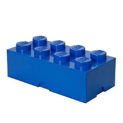 Lego Storage Opbevaringsboks - 8 Knopper - 50x25x18 - Blå - Børnetøj - Lego