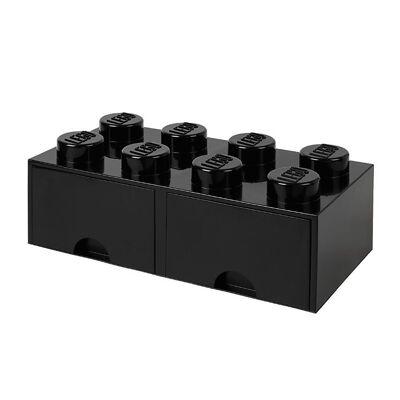 Lego Storage Opbevaringsskuffe - 8 Knopper - 50x25x18 - Sort - Børnetøj - Lego