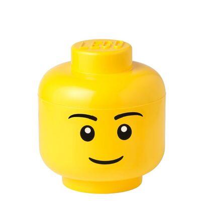 Lego Storage Opbevaringsboks - Lille - Hoved - 19 cm - Dreng - Børnetøj - Lego