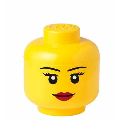 Lego Storage Opbevaringsboks - Lille - Hoved - 19 cm - Pige - Børnetøj - Lego