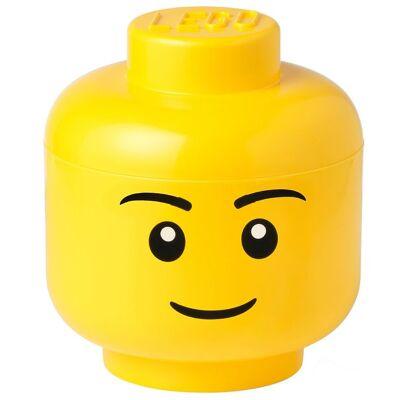 Lego Storage Opbevaringsboks - Stor - Hoved - 26,8 cm - Dreng - Børnetøj - Lego