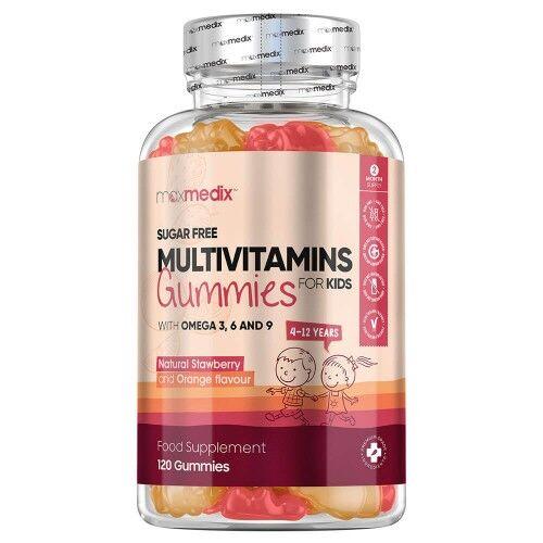 Multivitamin Vingummi til børn - Naturligt Tilskud Til Velvære for Børn - 120 kapsler