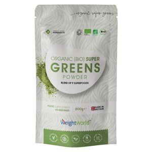 Organisk Super Greens Pulver - Potent naturligt superfood pulver til vægtkontrol & vitalitet - 200g