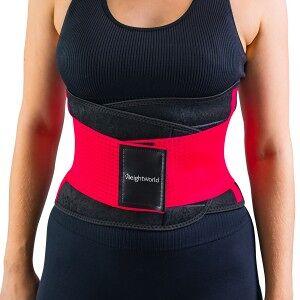 WeightWorld Svedbælte - Unisex Fitness Bælte - Størrelse S - Hot Pink - MaxMedix