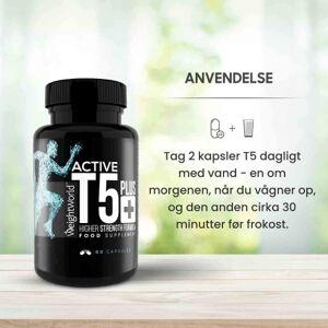 Active T5 Plus Koffeinpiller - 60 kapsler til 30 dages forbrug - Kan hjælpe med fedtforbrændingen og give mere energi