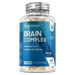Brain Complex  Støtter mental præstation og fokus  Kontrollerer træthed & udmattelse  Med Vitamin B1, B2 & C  90 kapsler