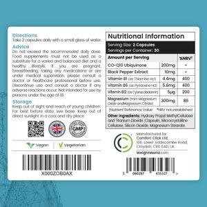 CoQ10 Plus - Naturligt Fremstillet Plantebaseret Kapsler for Hjerne & Immunforsvar - 90 Kapsler