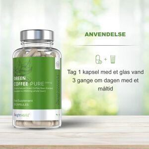 Pure Green Coffee Pure - 90 grøn kaffe koffeinpiller med 7000 mg - Indeholder grønne kaffebønner, der kan være hjælp til vægttab og give mere energi