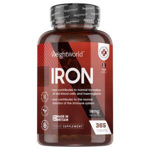 Jerntabletter 14 mg 365 tabletter til 1 års forbrug-Naturligt kosttilskud til immunsystem