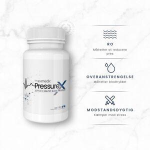 PressureX Piller - 60 Kapsler - Sund Støtte til Blodtrykket - 100 % Naturlig & Plantebaseret Helsekost - Lette At Sluge - Med A-vitamin & Magnesium