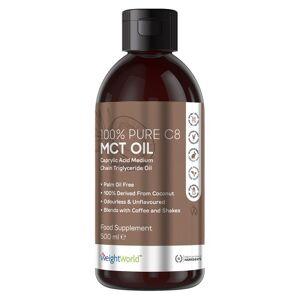 100% Rent C8 MCT 500ml Olie - Appetitnedsættende olie til vægtkontrol