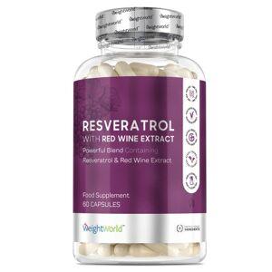 Resveratrol 250mg 60 Kapsler - Resveratrol Kosttilskud - Rødvinsekstrakt Kosttilskud