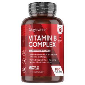 Vitamin B Complex 180 Tabletter- Naturligt kosttilskud Støtter Immunsystemet