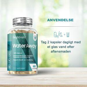 WeightWorld Water Away 60 Kapsler - Naturligt Vanddrivende Kosttilskud